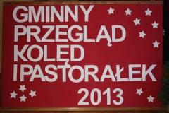 Gminny Przegląd Kolęd i Pastorałek 2013